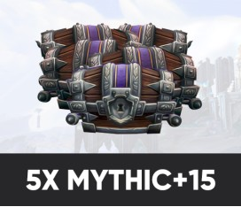 5x Mythic +15 in time