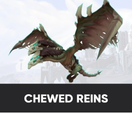CHEWED REINS OF THE CALLOW FLAYEDWING MOUNT BOOST